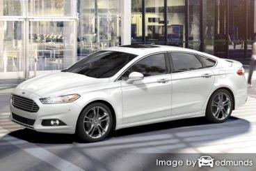 Insurance rates Ford Fusion in San Antonio