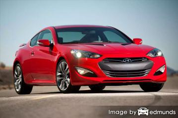 Insurance rates Hyundai Genesis in San Antonio