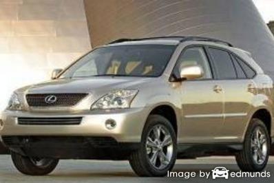 Insurance rates Lexus RX 400h in San Antonio
