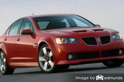 Insurance rates Pontiac G8 in San Antonio