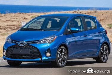 Insurance rates Toyota Yaris in San Antonio
